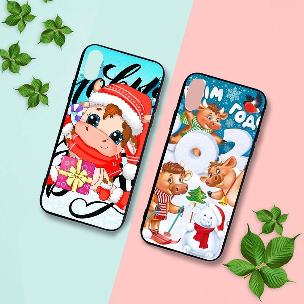 Ốp lưng iphone cứng Trâu Giáng Sinh  6 6S 6Plus 6S Plus 7 8 7Plus 8Plus X XSMax 11 Pro ProMax - Xưởng Ốp Việt Nam M833
