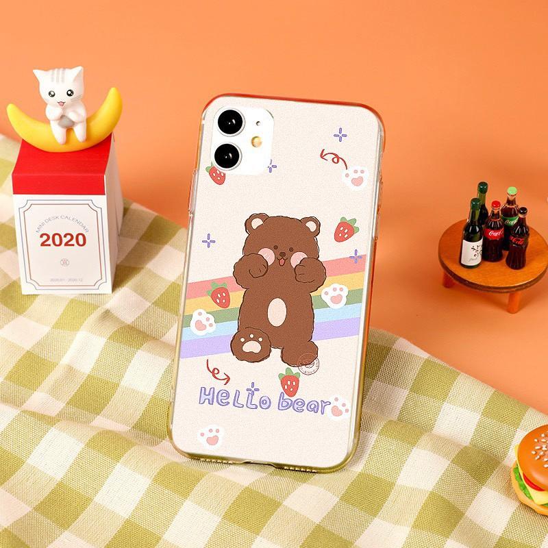Ốp lưng iphone Gấu Tim 6 6S 6Plus 6S Plus 7 8 7Plus 8Plus X XSMax 11 ProMax XR - Xưởng Ốp Việt Nam M802
