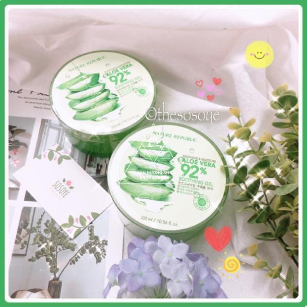 Gel Lô Hội Dưỡng Ẩm Nature Aloe Vera 92% nhiều công dụng