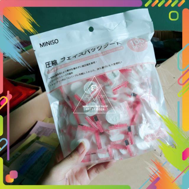 10 viên mask nén Miniso Nhật Bản