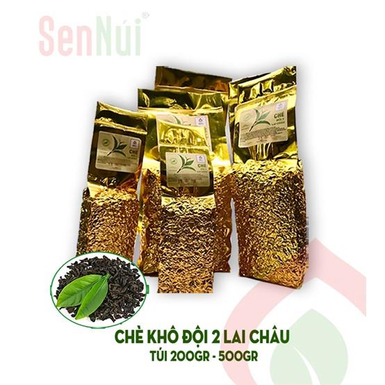 [Sennui]Chè khô đội 2 Lai Châu 100% sao tay + tặng 10ml tinh dầu sả java