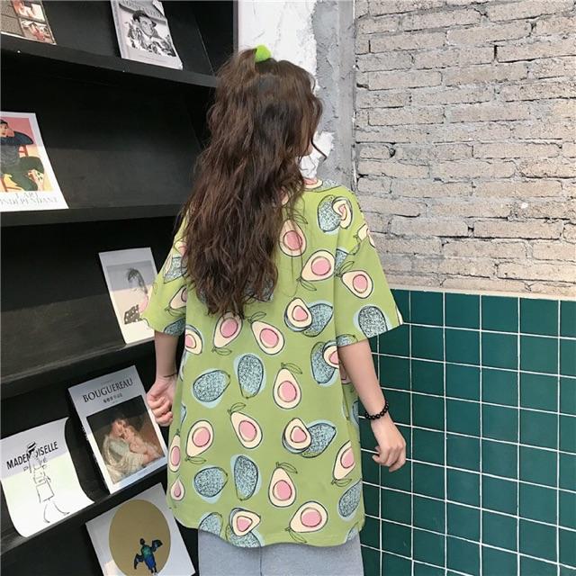 Áo Thun Trái Bơ Form Rộng Tay Lỡ Oversize - Liti Shop
