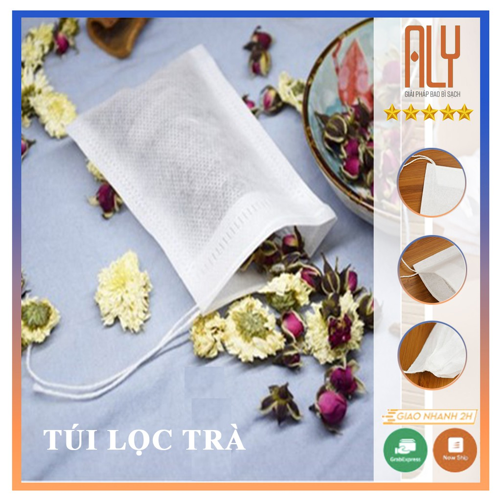 Dụng cụ lọc trà bằng vải, túi lọc trà bằng vải không dệt