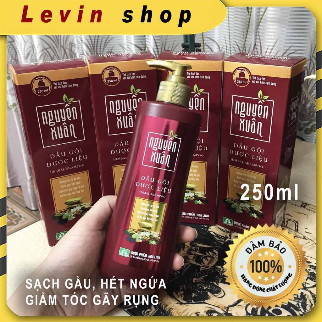 Dầu gội dược liệu Nguyên Xuân NÂU 250ml  [Có vòi] -Dành cho tóc thường, da đầu dầu