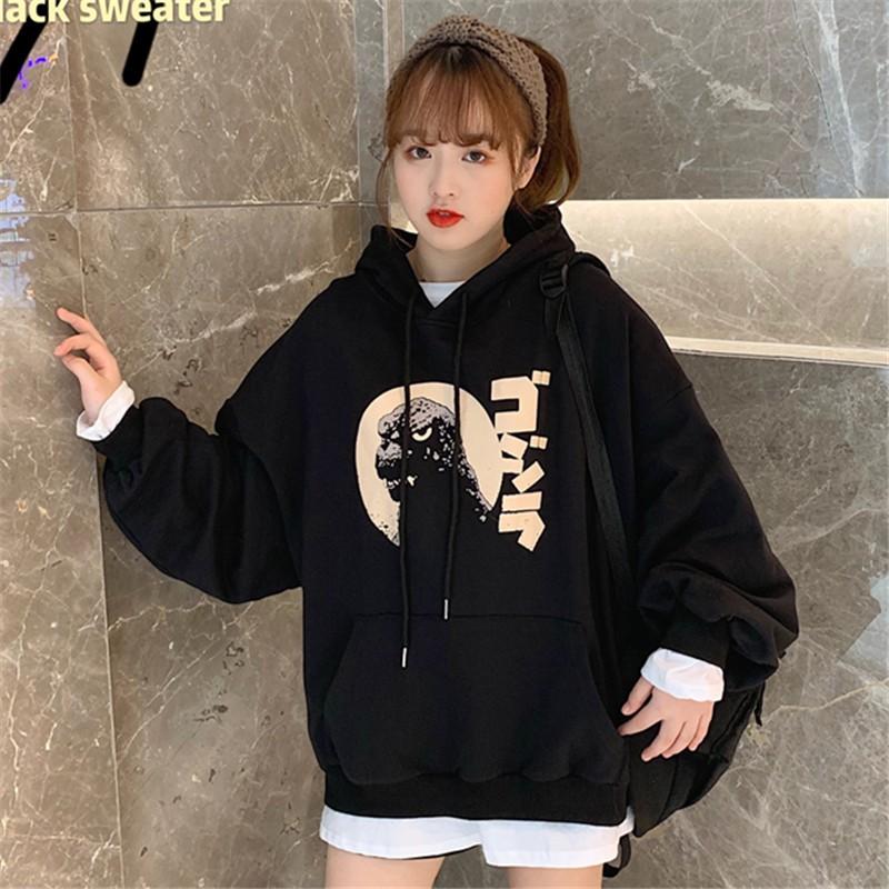 Áo Hoodie Unisex Chất Nỉ Bông Dáng Rộng Ulzzang Cho Nữ - Liti shop
