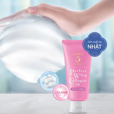 Sữa rửa mặt tạo bọt collagen senka Perfec Whip Collagen in 120g