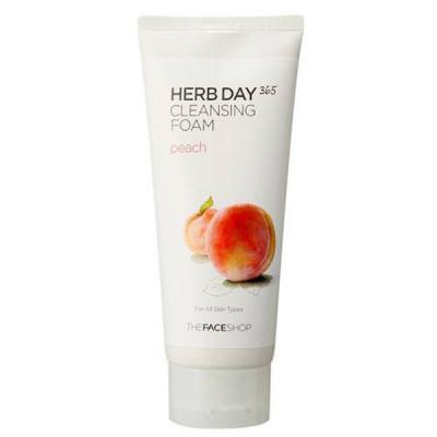 Sữa Rửa Mặt Đào Dành Cho Da Khô Herb Day 365 Cleansing Foam Peach 170ml