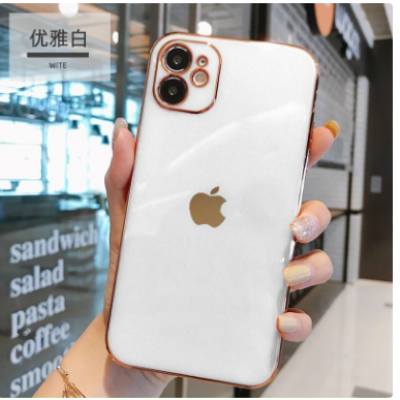 Ốp dẻo viền vuông giả IPhone 12 bảo vệ camera