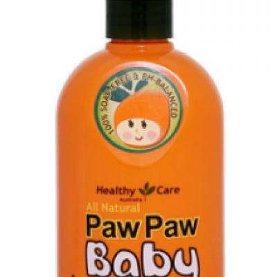Gội tắm 2 trong 1 cho trẻ em Healthy Care Paw Paw Baby Shampoo Body Wash 500ml