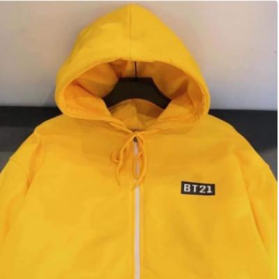 áo khoác nữ bt21, hoodie nam nữ form rộng có dây kéo
