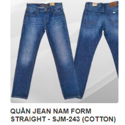 QUẦN JEAN NAM FORM STRAIGHT - SJM-243 (COTTON)