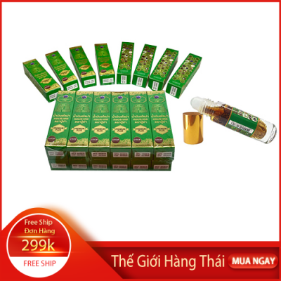 Combo 12 Chai Dầu lăn thảo dược 29 vị Aroma Thai Oil Puya Brand Thái Lan
