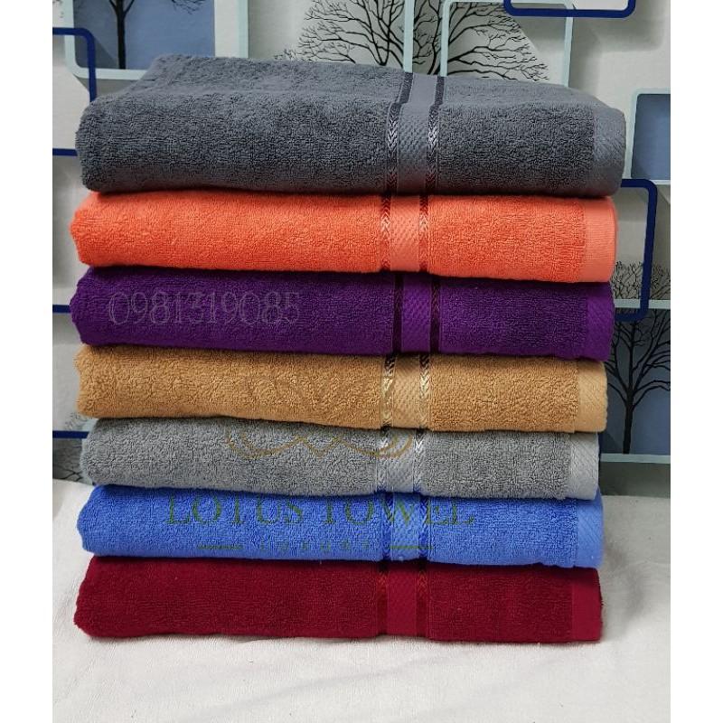 Khăn tắm xuất Châu Âu viền dí tơ tằm siêu rẻ kt 70×140cm