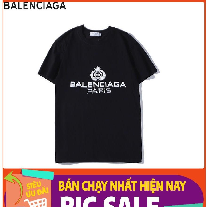 ÁO PHÔNG nam NỮ hottrend 2021 _ BALENCIAGA 100% cotton tay lỡ UNISEX