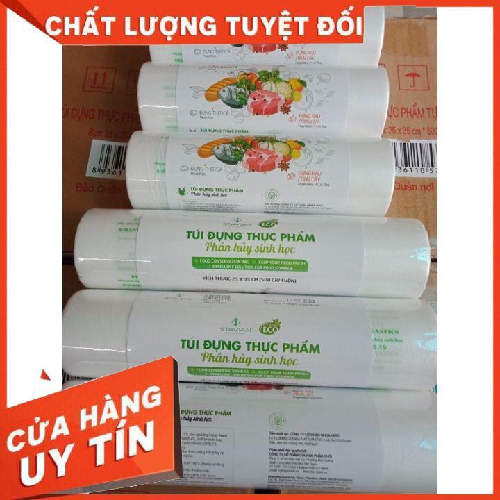 Túi đựng thực phẩm sinh học tự hủy ECO, hàng chuẩn công ty,KT 17*28 cuộn 100 túi