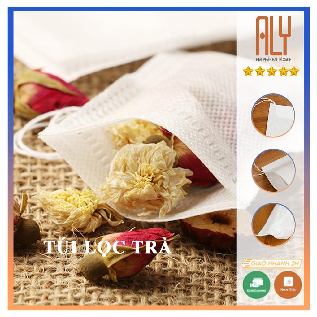 500 túi lọc trà vải không dệt dùng 1 lần kích thước 5x7