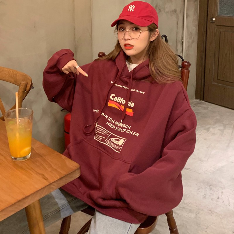 [Mã FATHANG5 giảm 10K đơn 50K] Áo Hoodie Ulzzang Nữ Dáng Tay Rộng Phong Cách Hàn Quốc - Liti shop