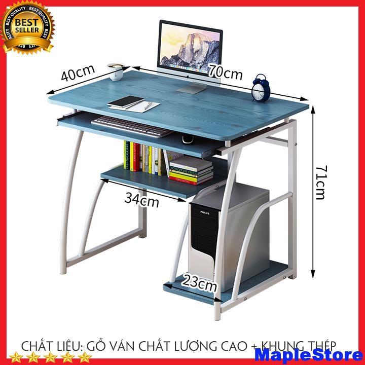 Bàn làm việc bằng gỗ chân sắt, bàn máy tính kích thước 70*40*71 cm