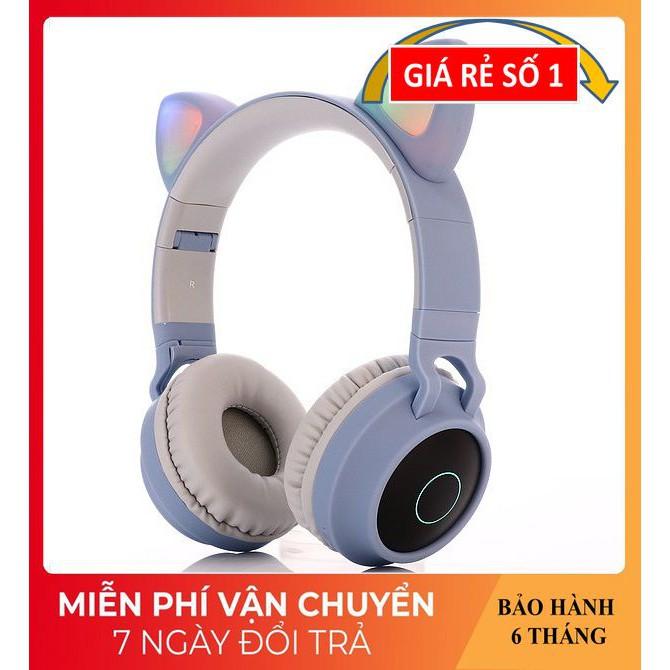 Tai Nghe Chụp Tai ❤️FREESHIP❤️ Tai Nghe Con Mèo Phát Sáng Đẹp Mắt - Tai Nghe Bluetooth BT028C Công Nghệ Không Dây 5.0