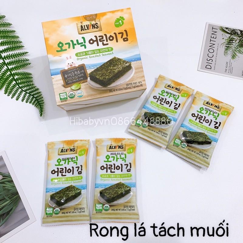 Rong Biển Hữu Cơ Tách Muối Alvins Hàn Quốc