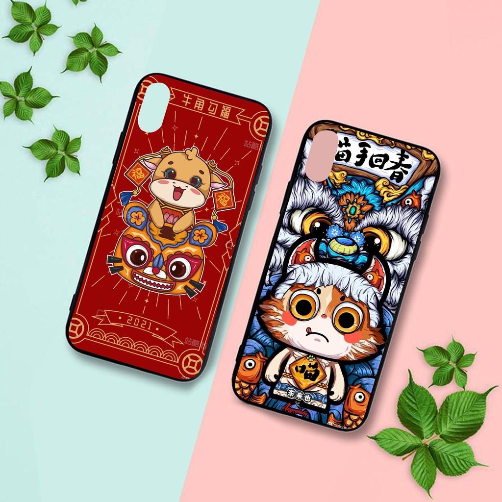 Ốp lưng iphone cứng Trâu Mặt Mèo  6 6S 6Plus 6S Plus 7 8 7Plus 8Plus X XSMax 11 Pro ProMax - Xưởng Ốp Việt Nam M838