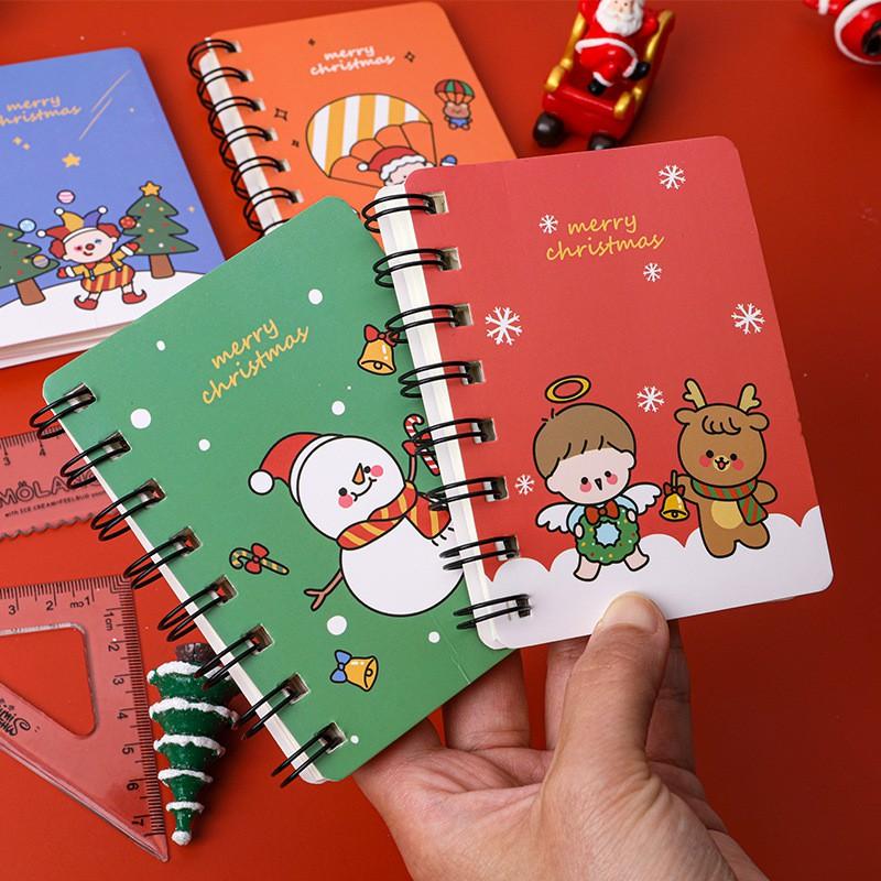 Sổ tay lò xo cầm tay Noel nhiều hình 80 tờ nguồn hàng buôn sỉ