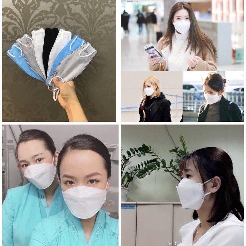 [Mã 66FMCGSALE hoàn 8% xu đơn 500K] (Sale) Khẩu trang 3D Land mask sét 6 cái phong cách KF74 Hàn