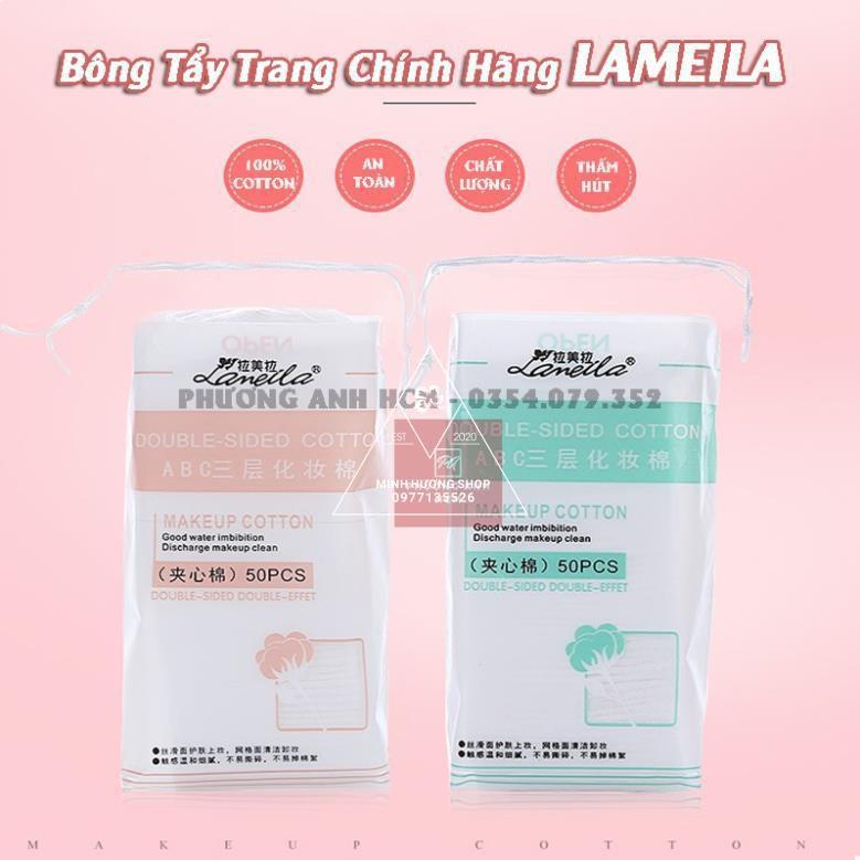 Bông Tẩy Trang Lameila túi 50 miếng