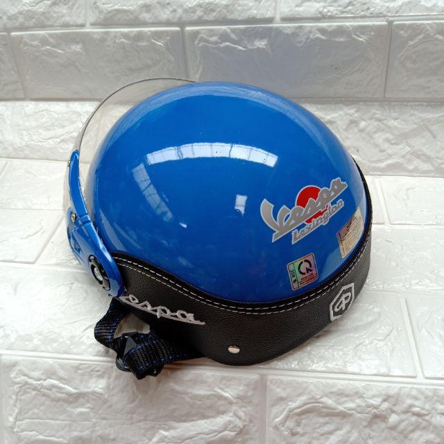 Combo 2 mũ bảo hiểm vespa kính