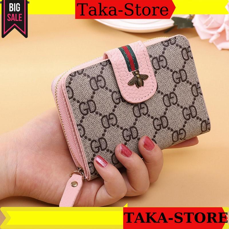 Ví nữ ngắn cầm tay đẹp  mini cao cấp cute dễ thương nhỏ gọn bỏ túi thời trang con ong TAKASTORE  VNCO