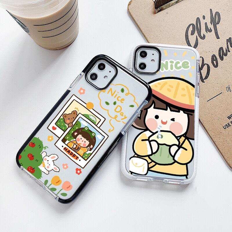 Ốp lưng iphone chống sốc cute girl 6 6S 6Plus 6S Plus 7 8 7Plus 8Plus X XSMax 11 ProMax XR - Xưởng Ốp Việt Nam M792