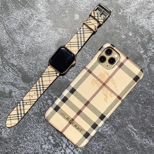 Da Dây Đeo Đồng Hồ Họa Tiết Kẻ 42 mm 38 mm Cho Apple Watch Band Series 5 / 3 / 2 / 1
