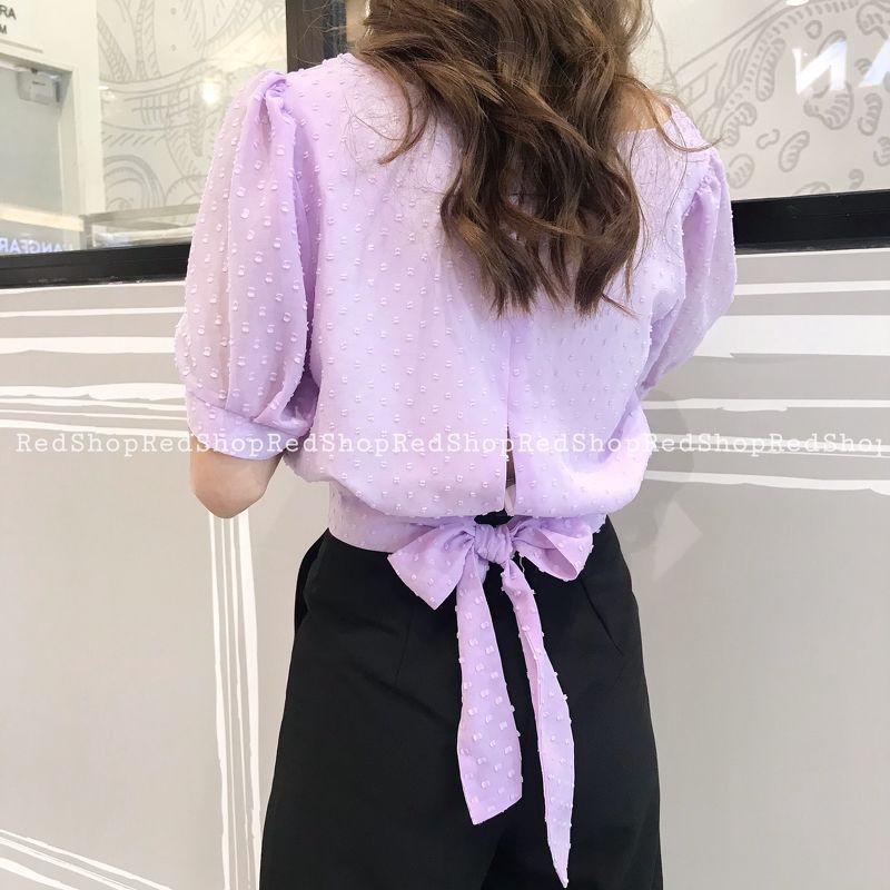 Áo SM TK vải hoa nổi_S