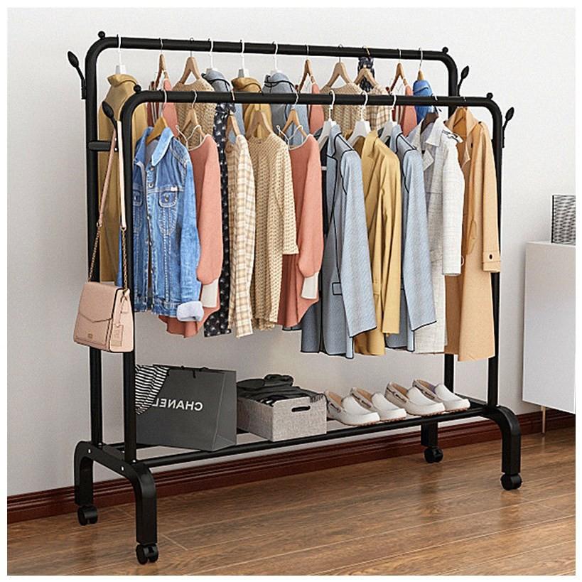[𝐅𝐫𝐞𝐞𝐬𝐡𝐢𝐩] Giá treo quần áo, để giày sơn đen CAO CẤP, CHỐNG HAN GỈ VANDO