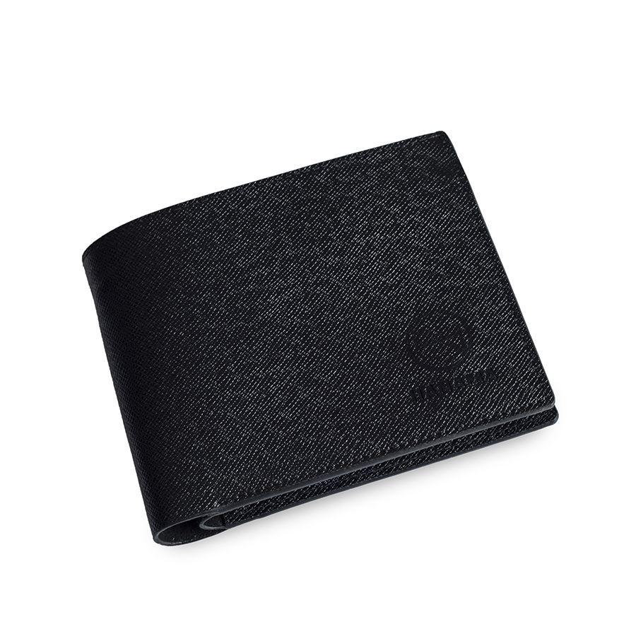 Ví da bò Hanama Note 5 đen (dáng ngang)