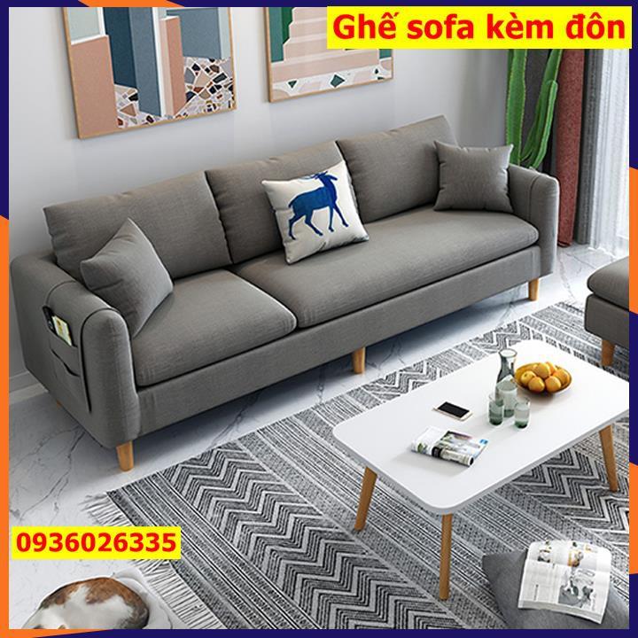 Sofa phòng khách, Ghế Sofa Chữ L, chất liệu vải lanh, đệm bông,KT 210x128x80 cm