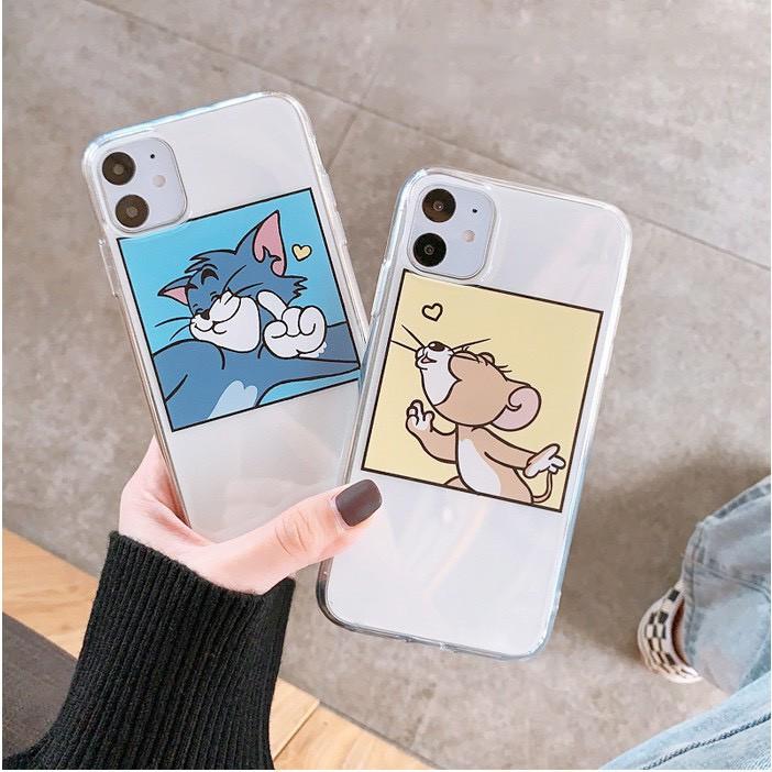 ỐP IPHONE - Ốp LƯNG - Hot Dẻo - M696 Tom,Jerry hôn