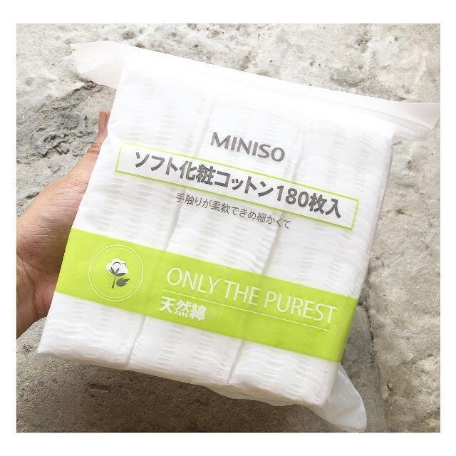 Bông Tẩy Trang Miniso Nhật Bản Túi Zip 180 Miếng