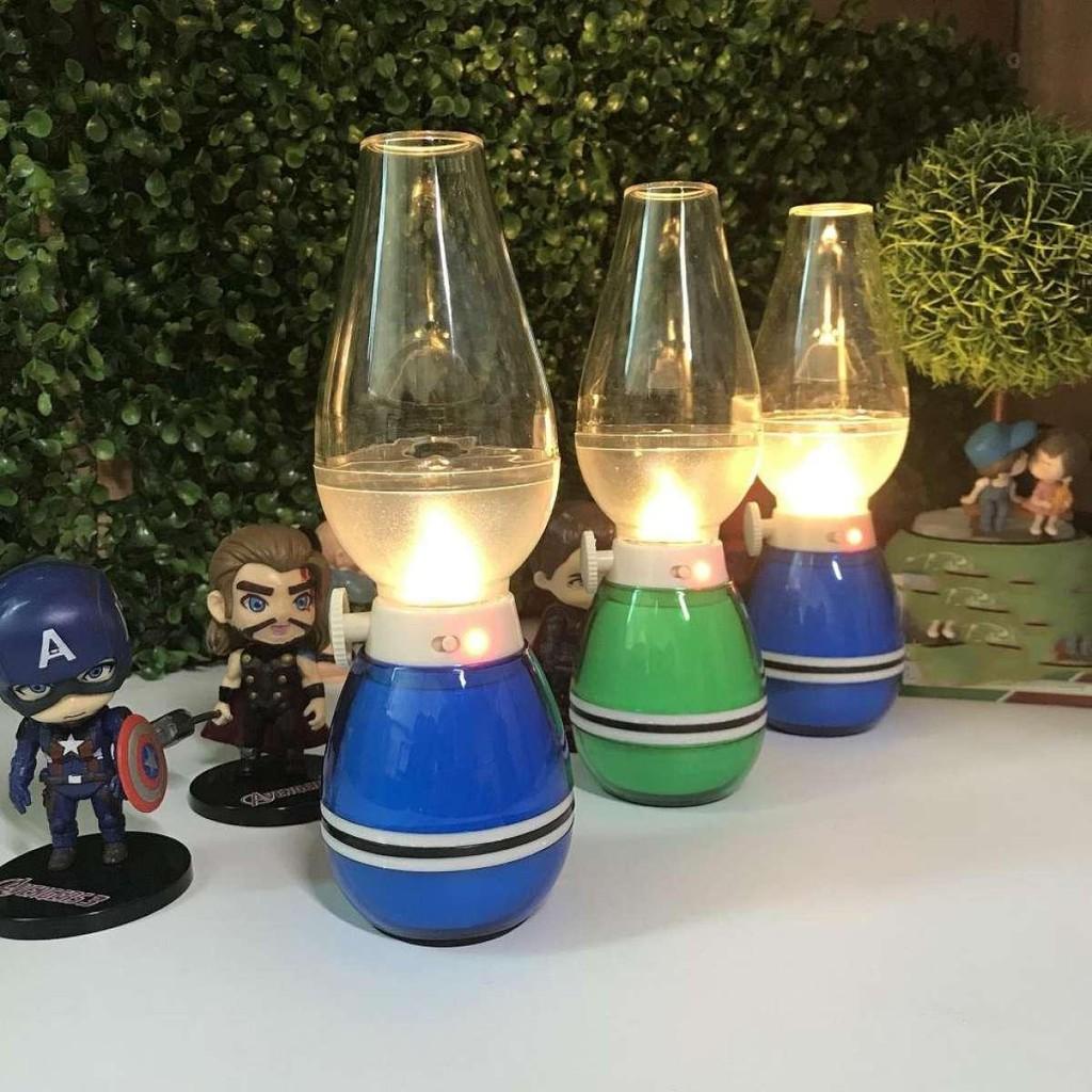 Đèn Dầu cảm ứng Điện Tử LED Thổi Tắt khí bật, Sạc Điện, hàng loại 1.