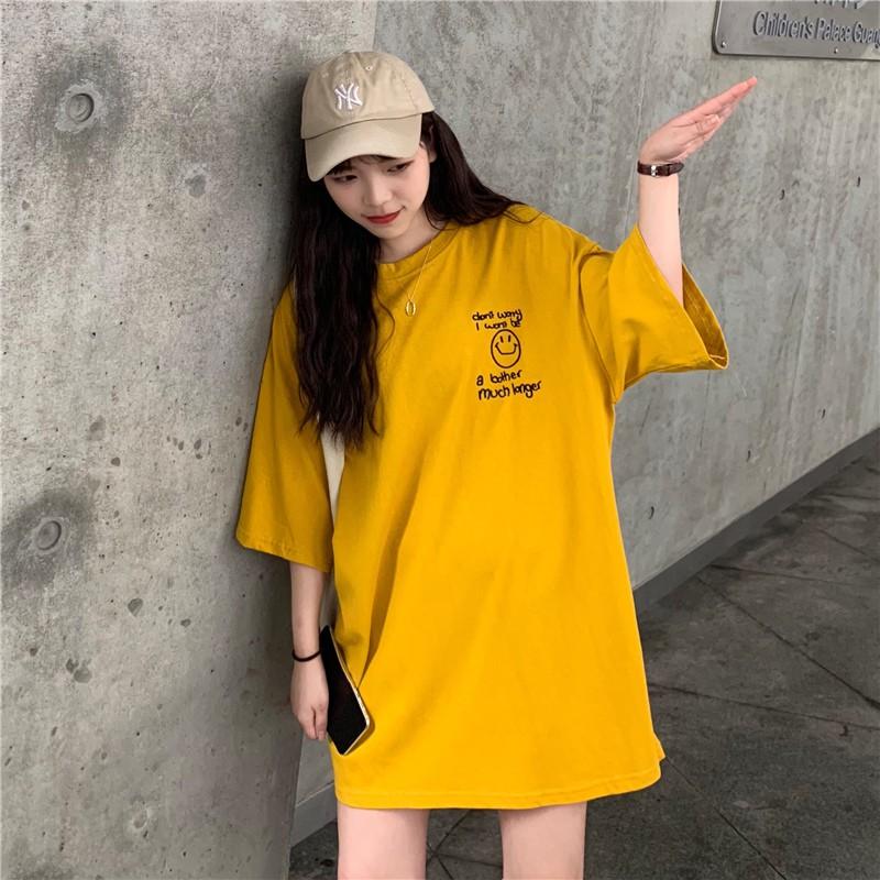 Áo Phông Nữ Mặt Cười Form Rộng Tay Lỡ Unisex Thiết Kế Hàn Quốc Đẹp - Liti Shop