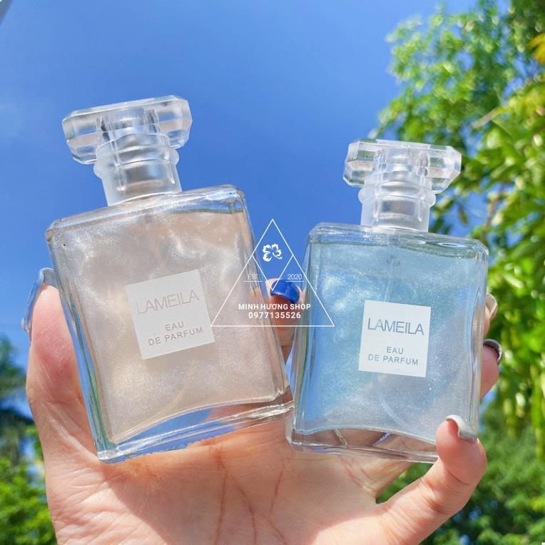 Nước Hoa Hương Tự Nhiên Lameila Quicksand Series Perfume, Xịt Thơm Toàn Thân Body Mist Lameila
