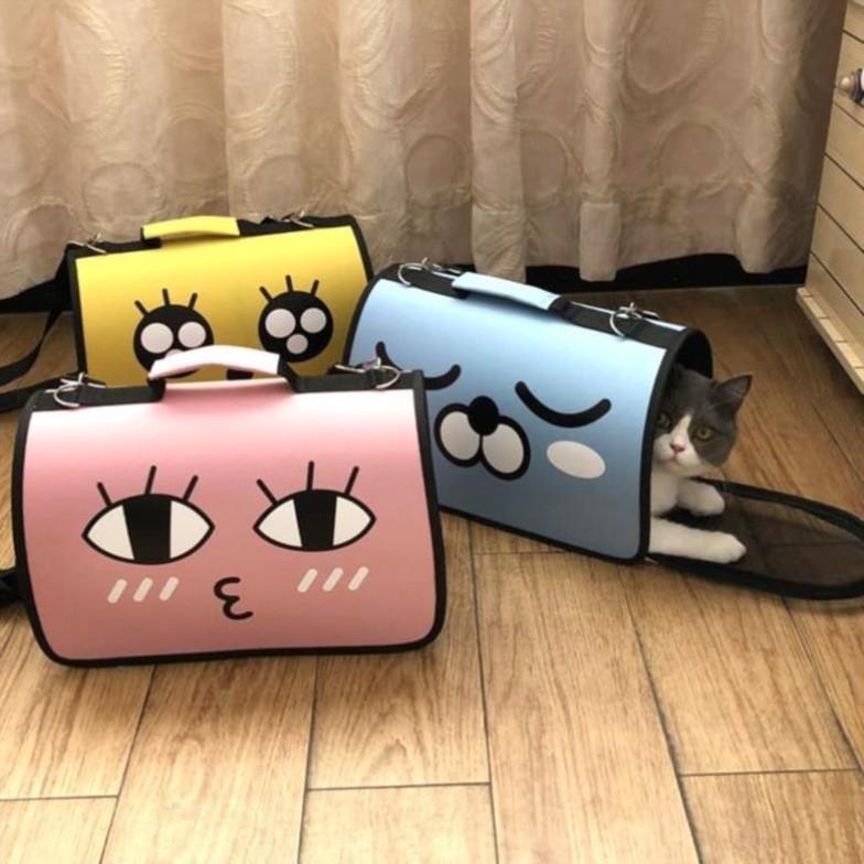 Túi vận chuyển chó mèo 3 Size S, M, L Chất liệu Vải Oxford
