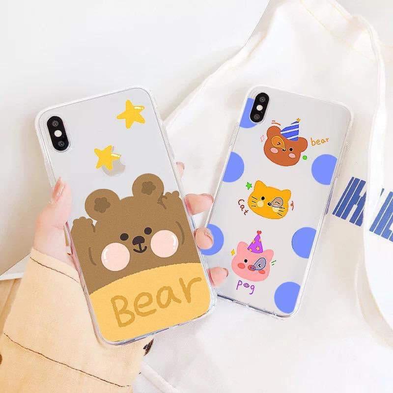 Ốp lưng iphone Gấu Lớn 6 6S 6Plus 6S Plus 7 8 7Plus 8Plus X XSMax 11 ProMax XR - Xưởng Ốp Việt Nam M815