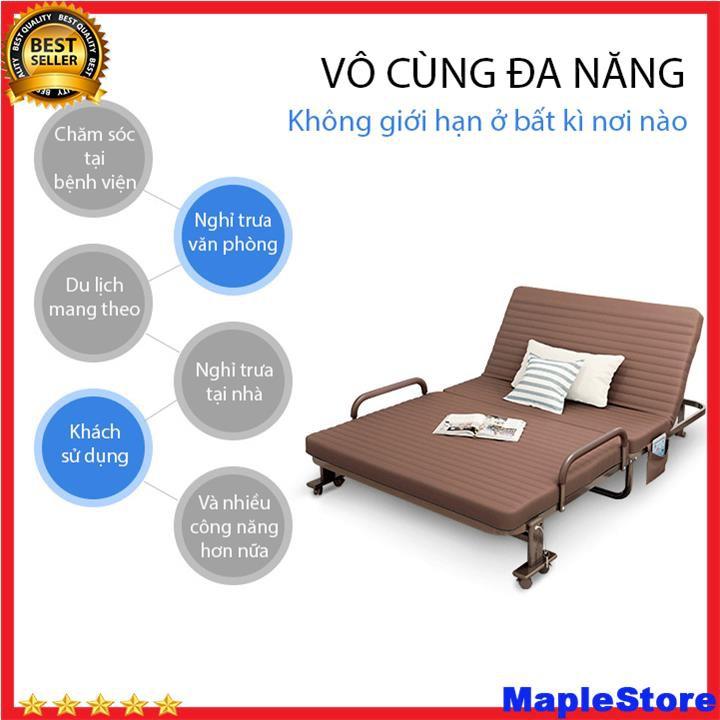 Giường gấp,giường xếp nâng đầu phong cách Hàn Quốc khung thép sơn tĩnh điện
