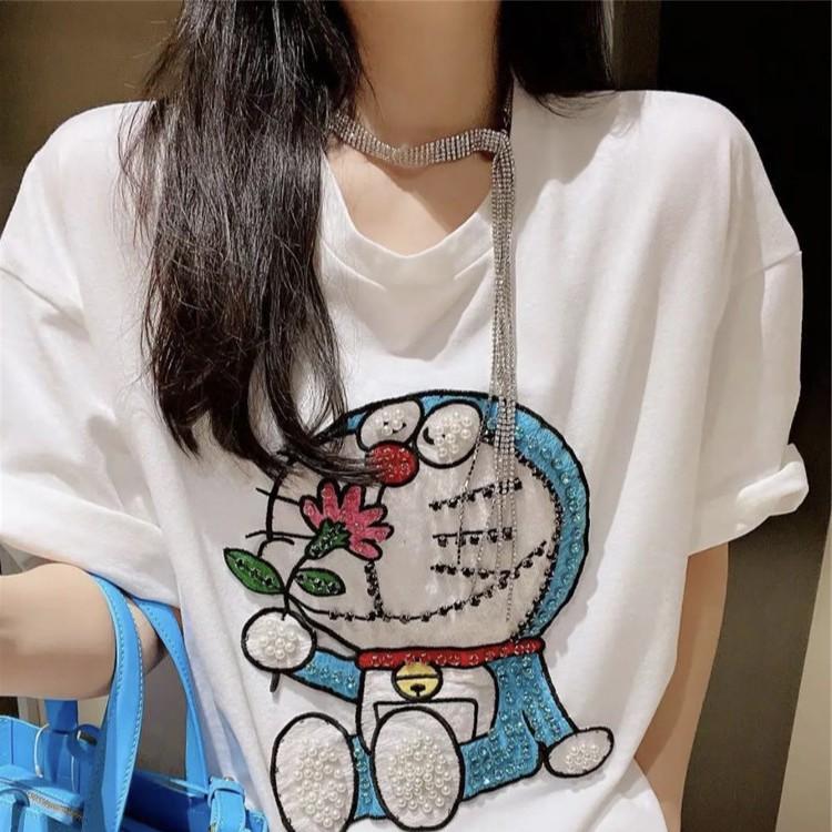 áo phông nam nữ🌟 DOREMON tay lỡ form rộng UNISEX🌟HOT TREND 2021-100% cotton 4 chiều