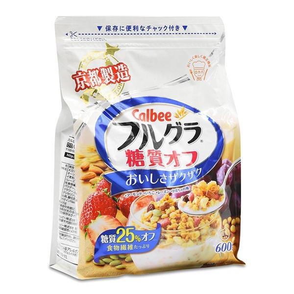 Ngũ cốc trái cây Calbee 600g (ít đường)