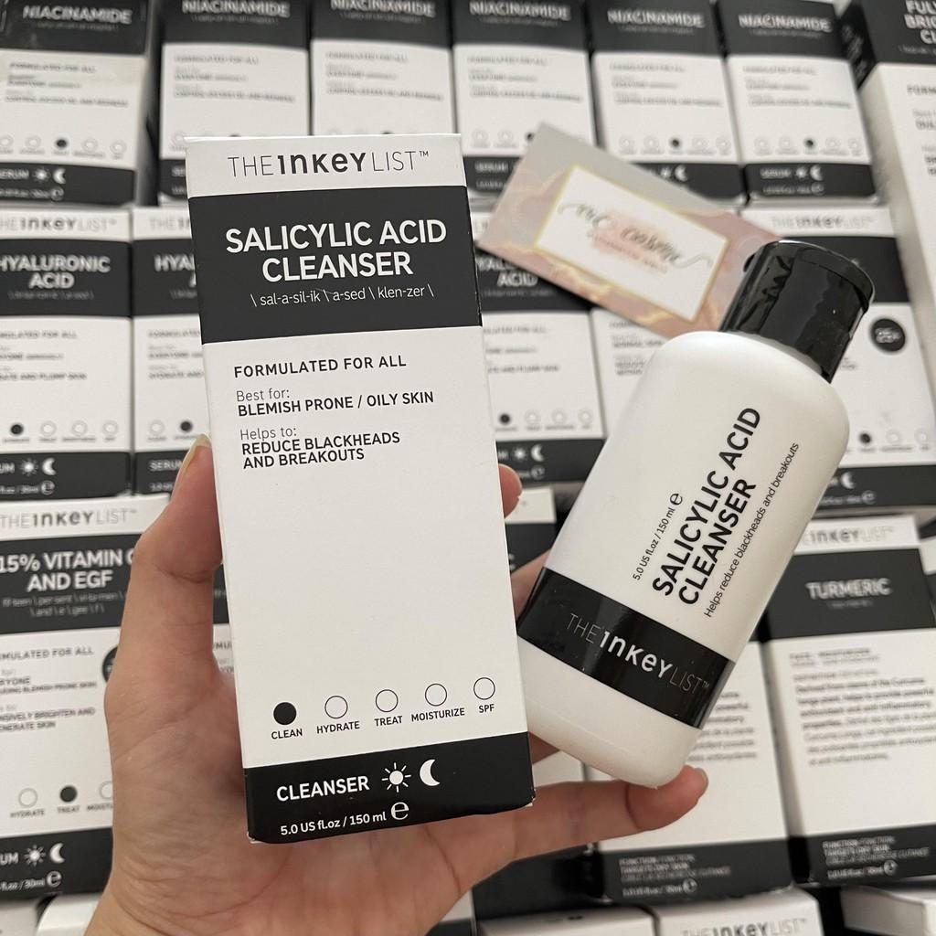 Sữa rửa mặt làm sạch sâu The INKEY List Salicylic Acid Cleanser 150ml