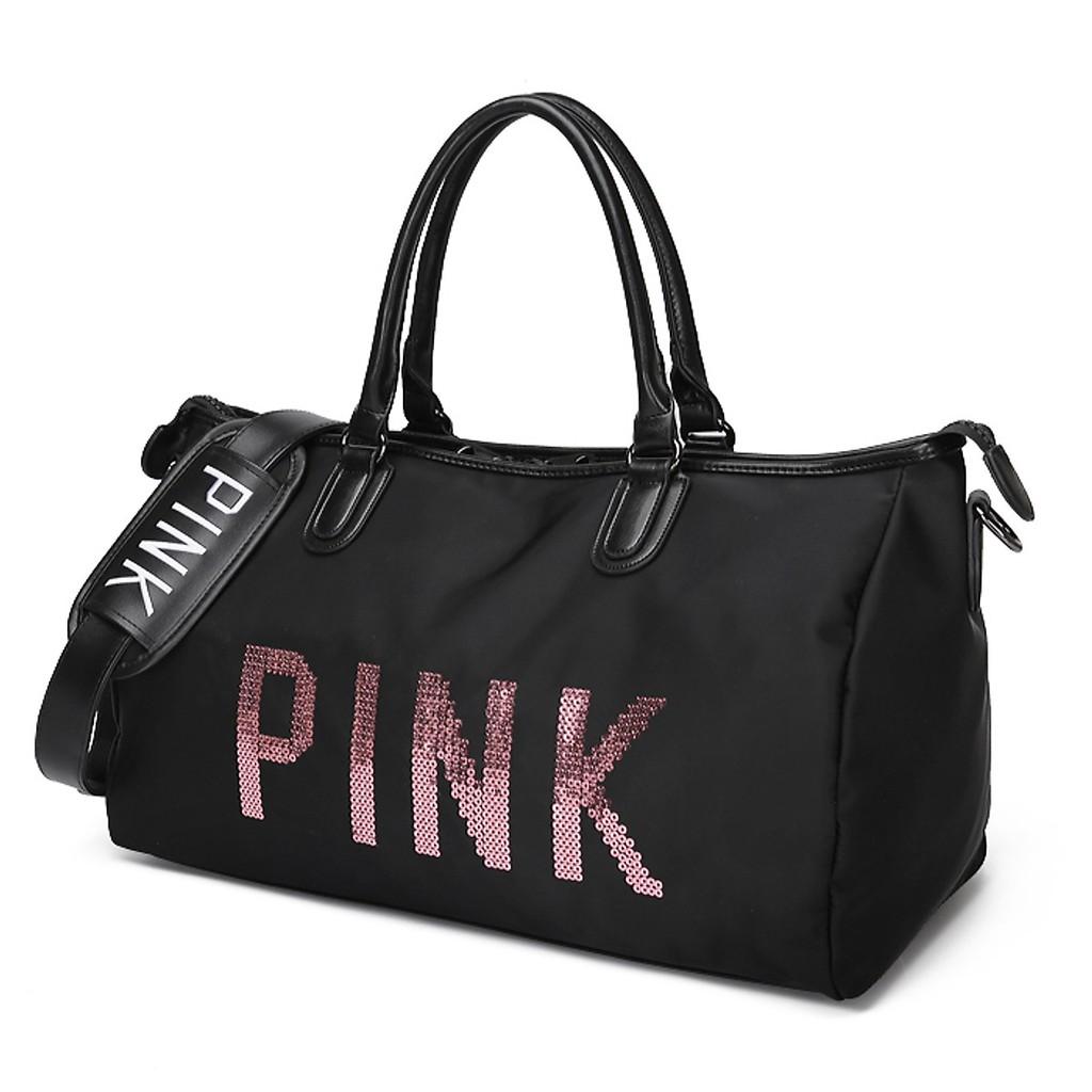 [Free Ship] Túi du lịch Pink size to, túi đựng đồ du lịch, tập GYM vừa cá tính vừa thời trang lại gọn nhẹ