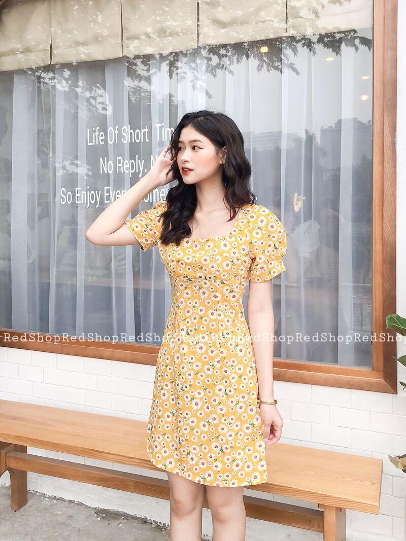 Váy hoa daisy hoa vàng