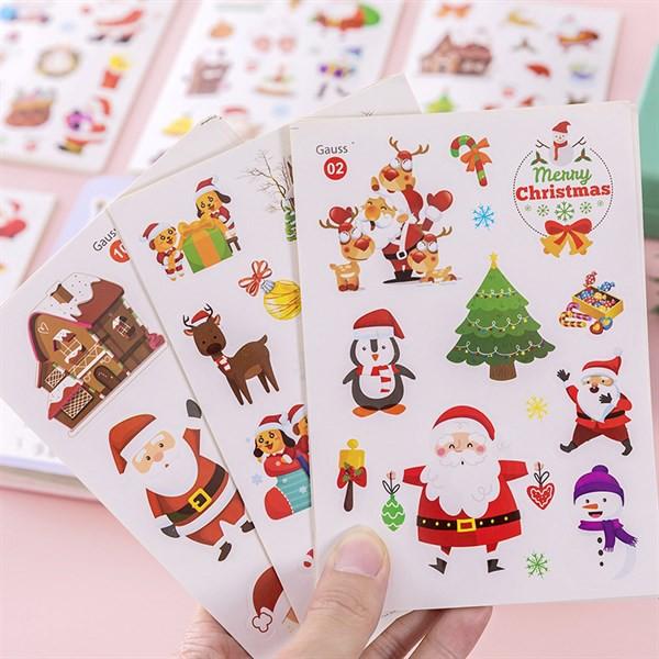 10 tờ Sticker dán Noel dễ thương